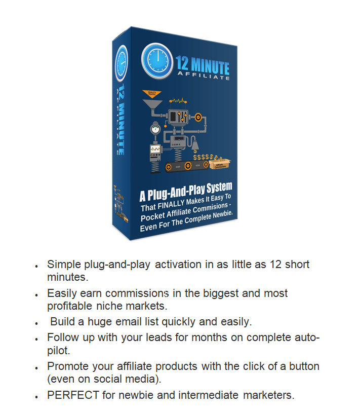 12 Minute Affiliate Package