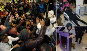 shoppers frenzy during a sale