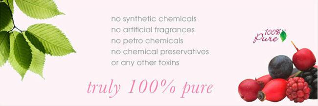 100% Pure Natural Organic Skin care