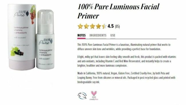 100 pure from Nourished life