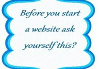Before you start a website ask yourself this