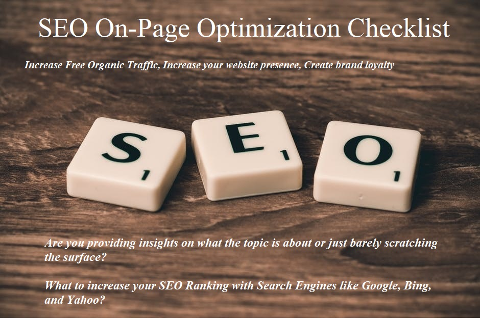 Learn about On Page SEO