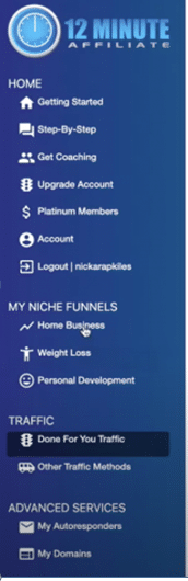 My Niche Funnel Dashboard