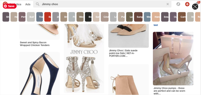 Various Images of Jimmy Choo's Shoes on Pinterest